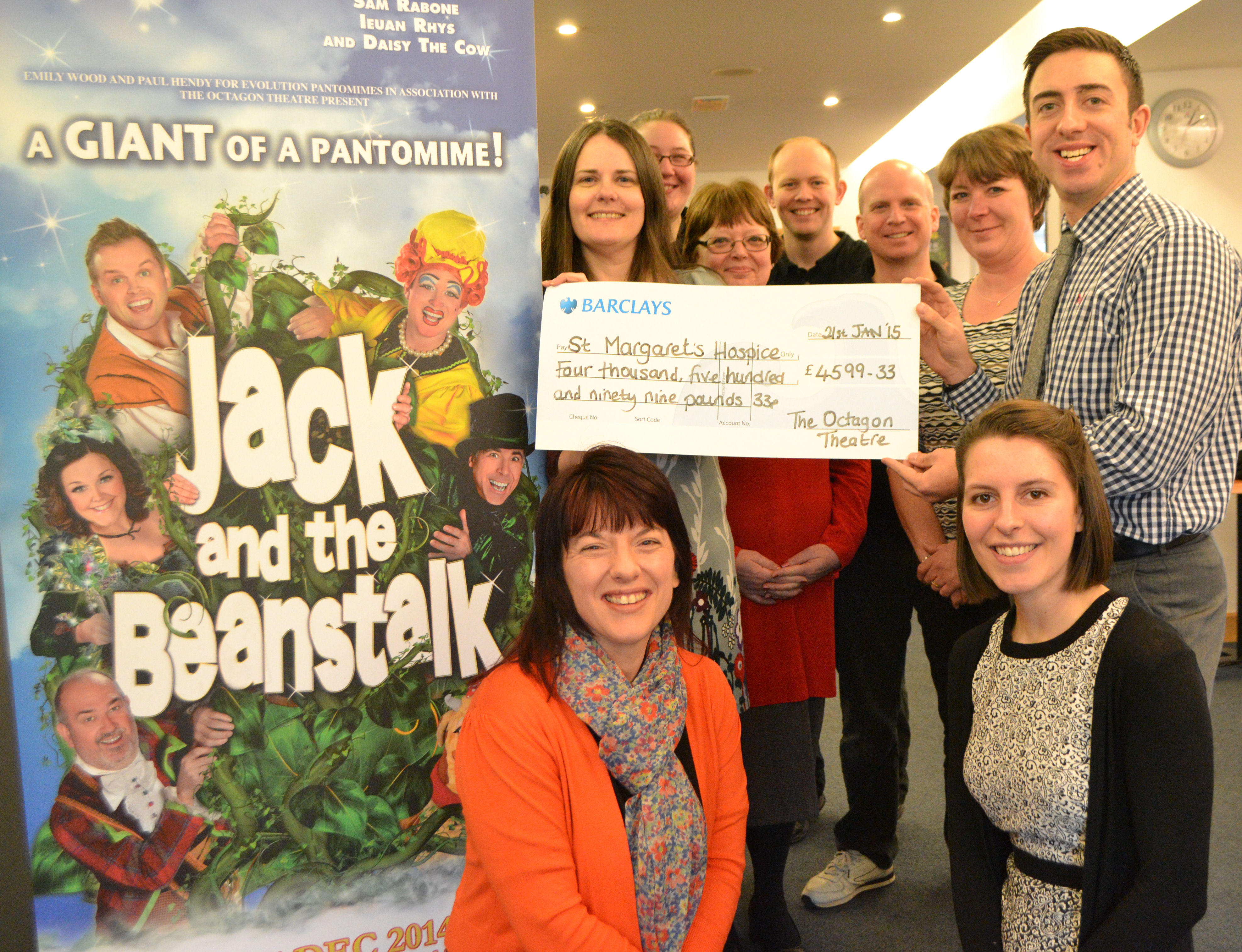 Octagon Theatre Pantomime Bucket Collection Raises Money for Charitable Causes*