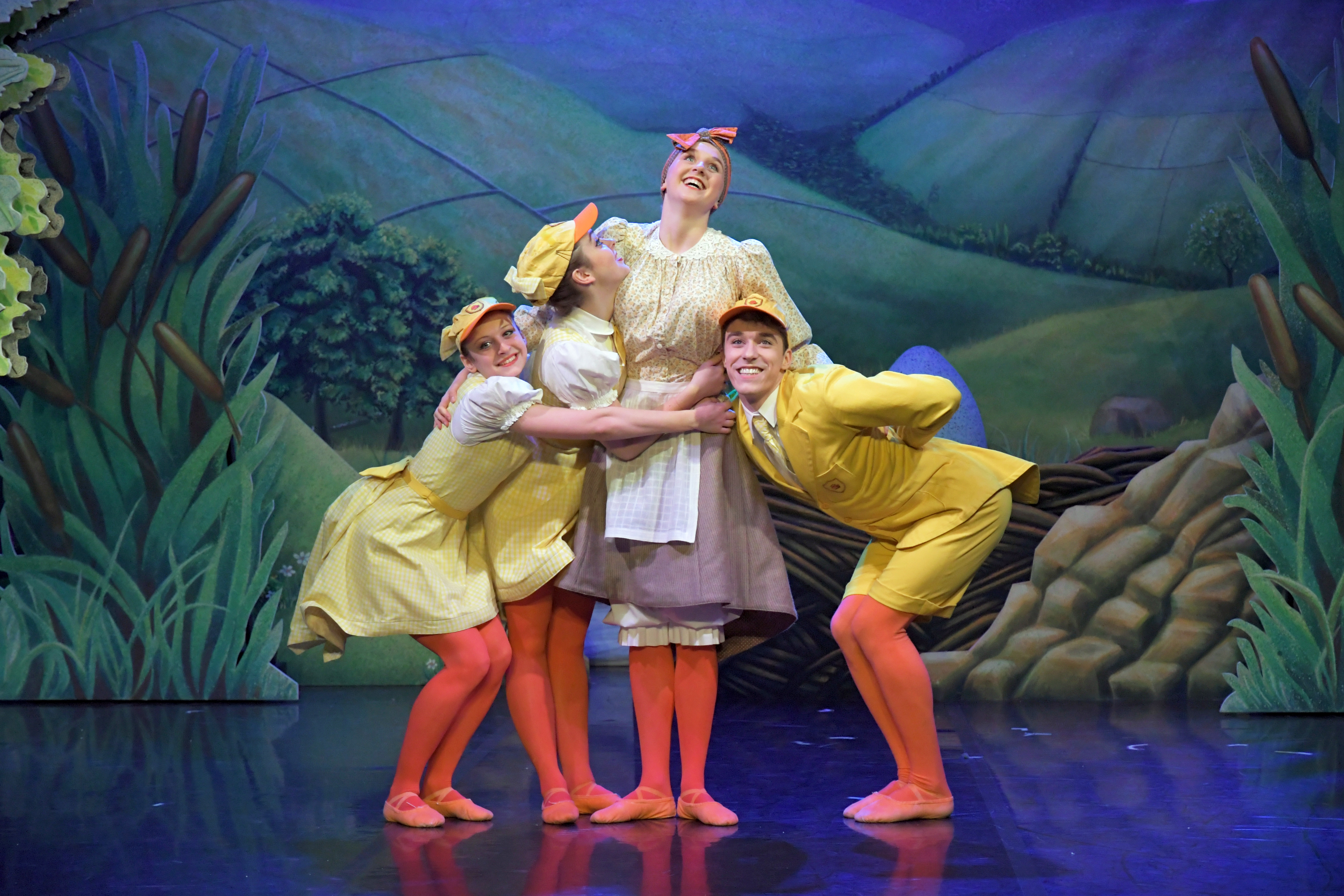 2 Mathilde Lambert, Darragh Houriddes, Lydia Holt and Andrew Tomlinson in Ugly Duckling
