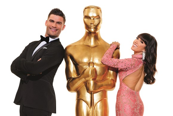 Remembering the Oscars - Statue pose photo