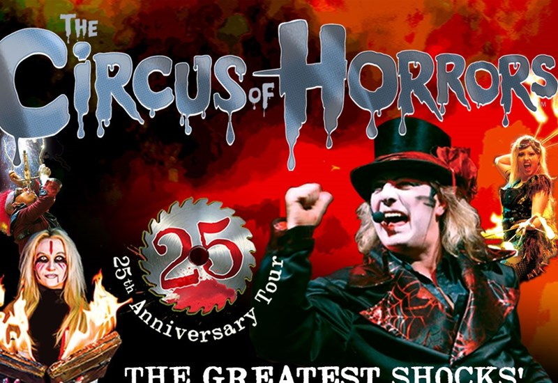 The Circus of Horrors Poster including images of cast - 25th Anniversary Tour