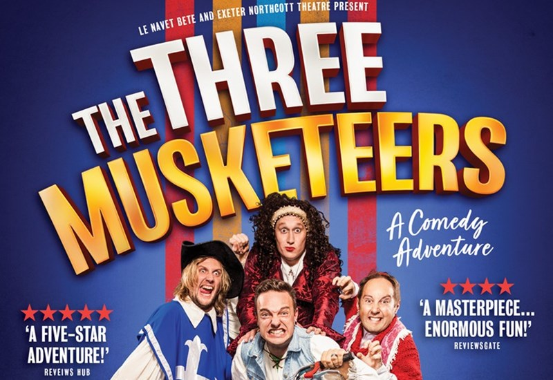 The Three Musketeers - a comedy adventure poster
