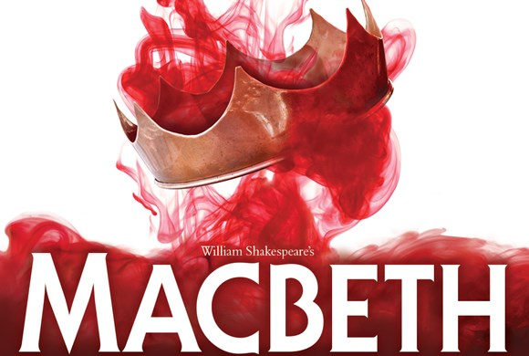 Macbeth poster - red smoke and crown photo