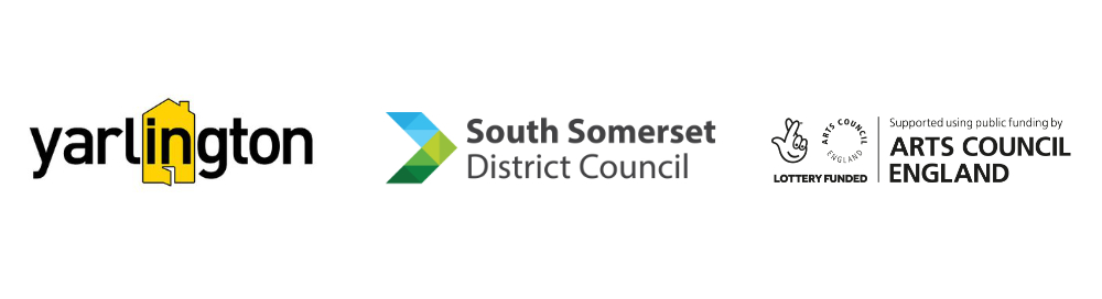 Yarlington, SSDC, Arts Council logos