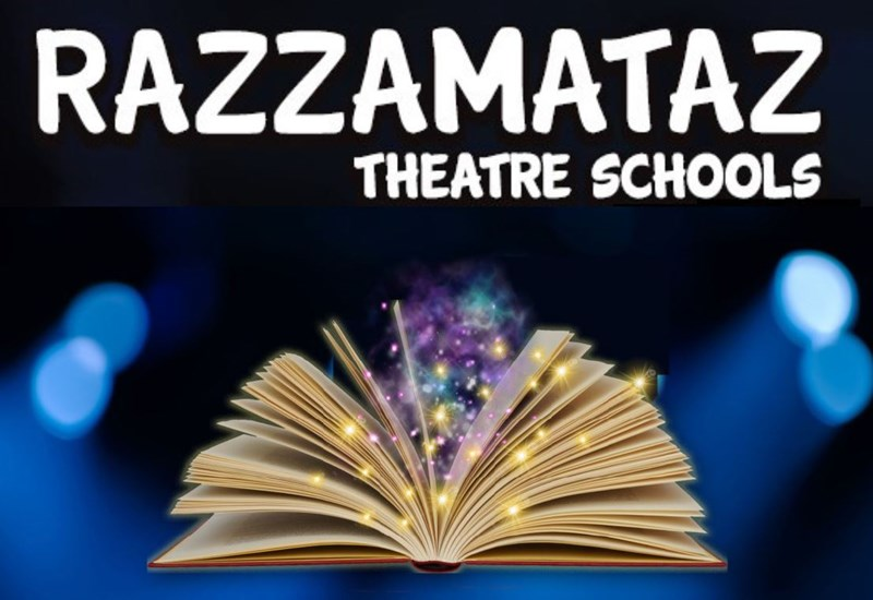 Razzamataz Theatre School Poster with Magic Book