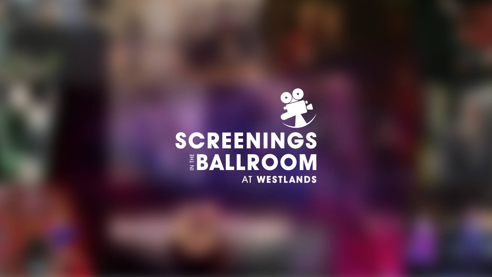Screenings in the ballroom - title screen